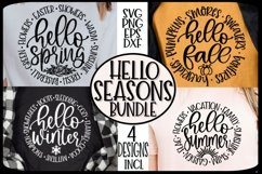 HELLO SEASONS- FALL SPRING SUMMER WINTER - SVG PNG EPS DXF Product Image 1