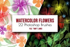 Flowers and leaves Photoshop Brushes Product Image 1