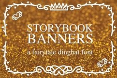 Storybook Banners - A Dingbat Font Full of Magical Borders Product Image 1