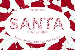 Santa Hat Font - A Fun Christmas Font Product Image 1