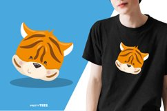 Animal Face Tiger T-Shirt Design | Sublimation T-Shirt Product Image 3