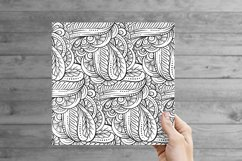 Fancy black and white seamless patterns set Product Image 4