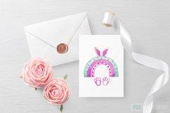 Easter Bunny sublimation,Rainbow Easter Sublimation,Rainbow Product Image 2