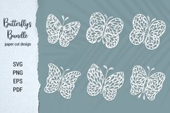 Free Butterfly Paper Cut Design Bundle for Cricut and Silhouette Product Image 1