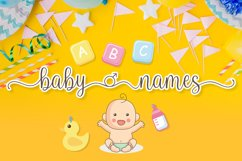 Baby Names - Boy and Girl Font Product Image 1