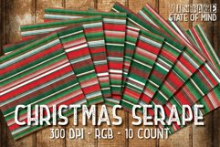 Christmas Serape Fabric Digital Papers Product Image 2