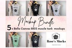 Bella Canvas Muscle Tank Mockup Bundle - Bella Canvas 8803 Product Image 1