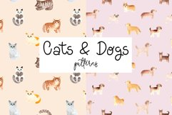 Cats and Dogs Patterns Product Image 1