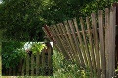 Village fence digital photo backdrop, farm backdrop Vol3 Product Image 4
