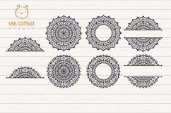 Mandala Bundle SVG, Yoga Mandala Cutting Files, Indian Round Product Image 2