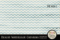 Beachy Watercolor Chevron Background Textures Product Image 3