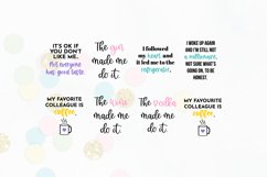 Funny Quote SVG Bundle Volume 1 - Colorful Version Product Image 6