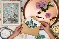 Flower lotus art watercolor for printable prints, pattern Product Image 6