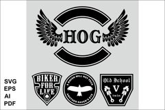 The set of symbols of the bikers Product Image 1