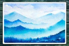 Winter Landscapes set#2. Watercolor. Product Image 6