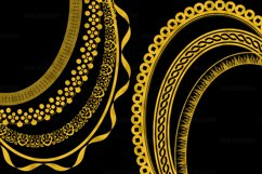Gold Decorative Frames Clipart Product Image 3