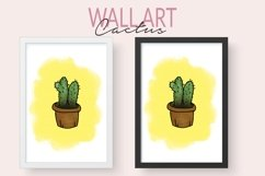 Printable Cactus Wall Art - Watercolor Hand Painted Cactus Product Image 1