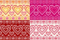 10 knitted hearts seamless patterns Product Image 3