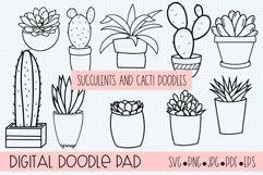 Succulents and Cacti Doodle Bundle Product Image 1