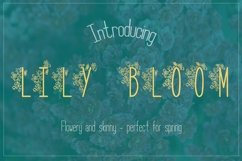 Web Font Lily Bloom Flowery Font Product Image 1