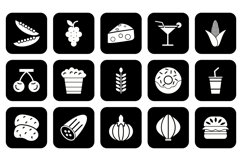 Set Of Food Icons Product Image 1