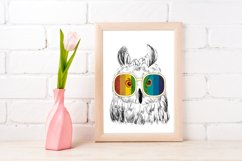 Fashion Owl Wall Art Printable - Instant Digital Download Product Image 1