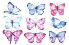 Butterfly Watercolor Clipart PNG Product Image 2