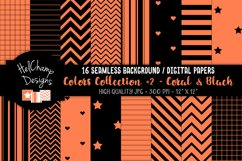 16 seamless Digital Papers - Coral and Black- HC162 Product Image 1
