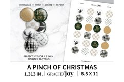 A pinch of Christmas 1.313 inch digital collage sheet Product Image 1