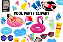 Pool Party Clipart Product Image 1