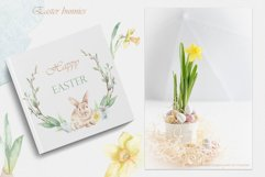 Easter bunnies watercolor Product Image 4