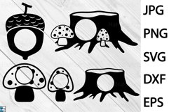 Monogram Forest Animals - Clip art / Cutting Files 229c Product Image 2