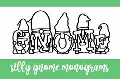 Web Font Gnome Friends Monogram Font - A-Z Letters Product Image 4