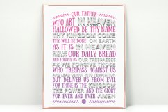The Lord's Prayer - pink & purple Product Image 2