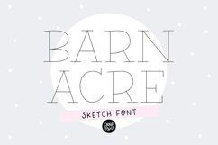 """BARN ACRE"" Sketch Font - Single Line/Hairline Font Product Image 1"