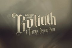 Goliath - Display Font Product Image 2