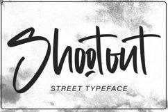 Shootout - Street Typeface Product Image 1