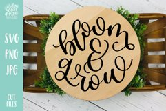 Bloom and Grow, Spring Garden SVG Cut File Product Image 1