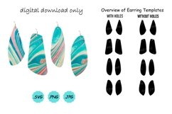 Earrings SVG Cut File, Earring Template SVG , Vector Pendant Product Image 1