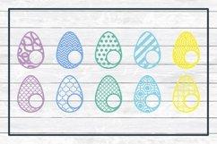 Easter Bunny and Egg Monogram Frame Bundle, SVG Cut Files Product Image 3