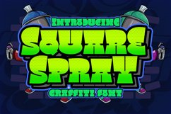 Square Spray Graffiti Font Product Image 1