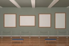 Art Gallery four Frames Mockup 3D Product Image 2