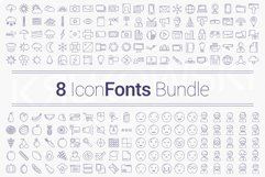 200 Icons in 8 Fonts - Bundle Product Image 1