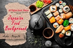 20 Photos Traditional Japanese rolls and sushi . Product Image 1