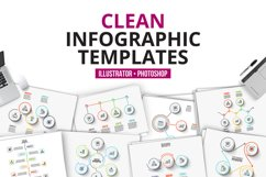 Clean infographic templates Product Image 1