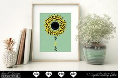 Sunflower leopard print Svg Product Image 5