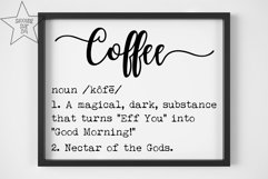 Coffee Definition SVG - Funny Coffee Definition - Home Decor Product Image 2