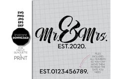 Wedding svg file, Mr and Mrs SVG, Just Married Shirts Product Image 2