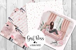 GIRL BOSS Digital Paper Pack - Fashion Illustration Patterns Product Image 4