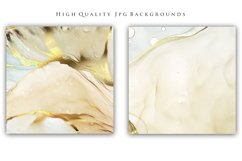 Abstract Alcohol Ink Gold Backgrounds Product Image 2